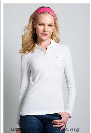 f988a211440 polo lacoste blanc femme